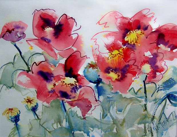 Poppies by Alix Hallman Travis