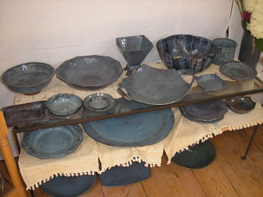 Ros Welchman's ceramics studio in Halcottsville