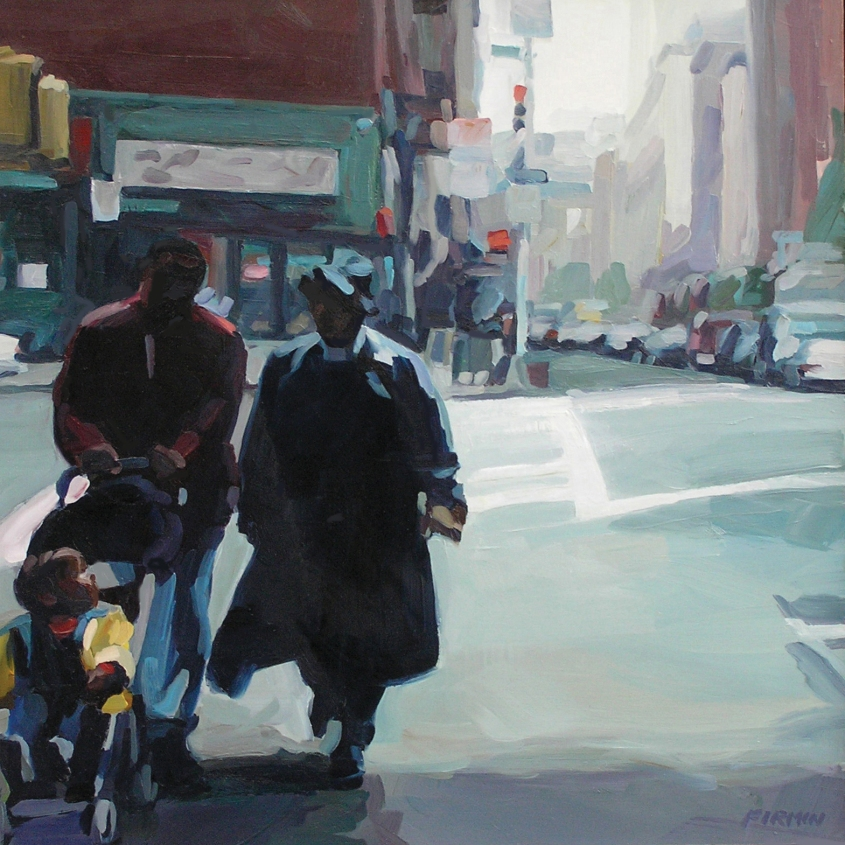 """Couple With Child, 7th Avenue South"""
