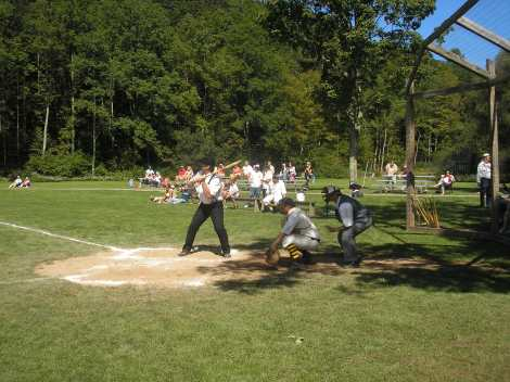 Vintage Baseball in Roxbury, NY