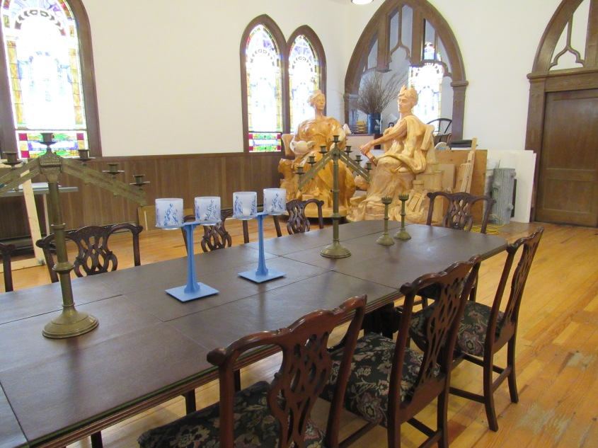 Brian's studio in Roxbury is located in a re-purposed church built in 1925