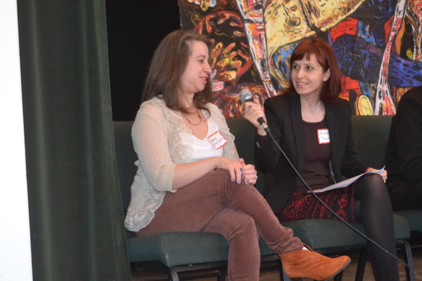 Mystery Writer Jenny Milchman with Consultant Simona David at WIM's Book Festival in 2015