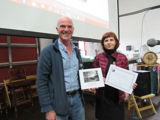 "With author John P. O'Grady is the winner of the Best Cover Contest for his book ""Certain Trees: In the Catskill Mountains"" judged by the public"