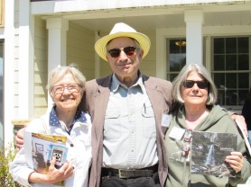 Leslie T. Sharpe with Dr. Bill Birns and Jean Druffner