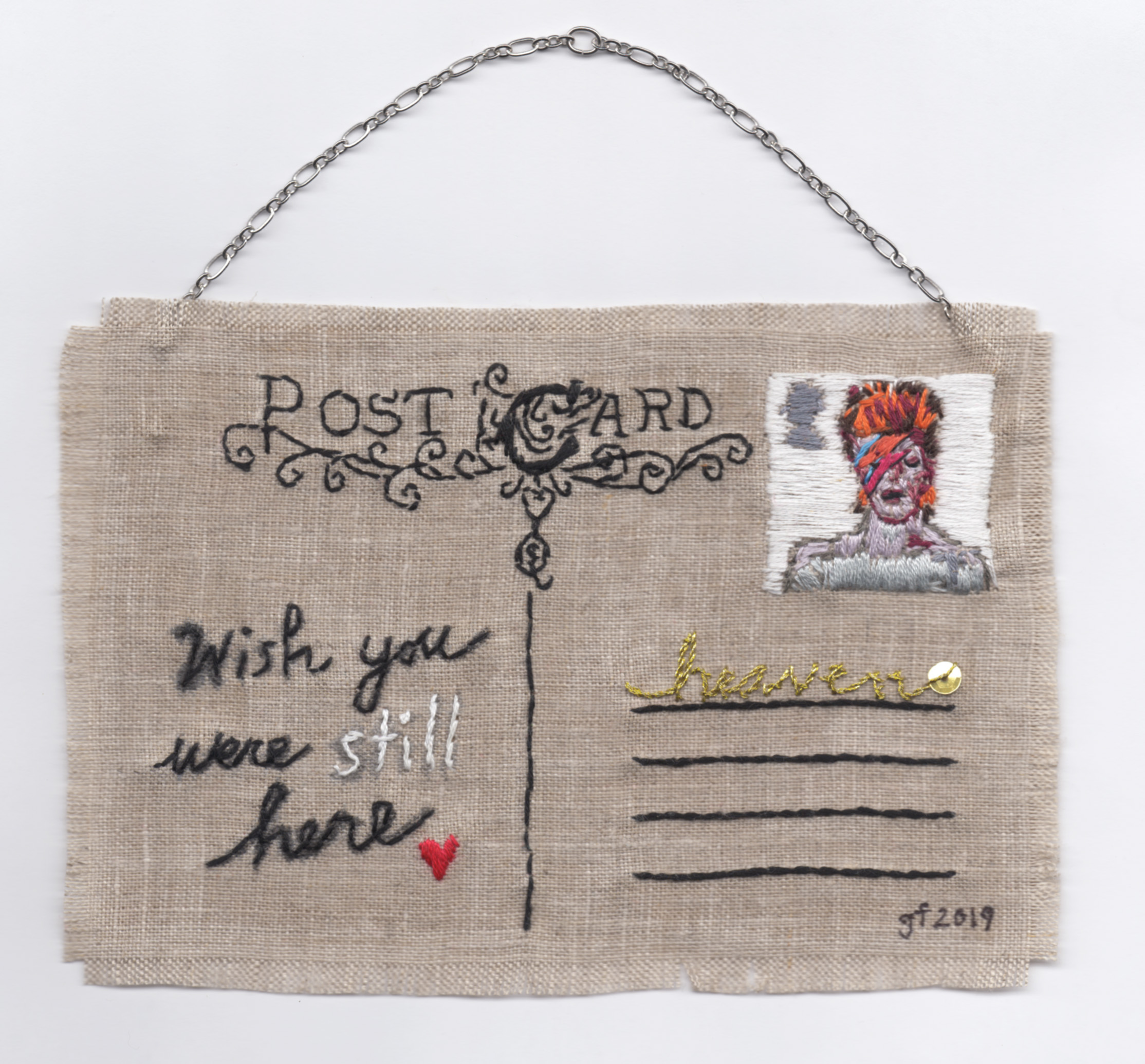 bowie.4x6_.embroidery and fabric paint on linen.April.2019