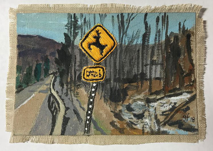 Gail Freund Award-Winning Embroidery at WAAM Small Works Show. Contributed Photo